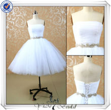 JJ3506 Tulle Skirt Puffy Sexy Short Mini White Wedding dress