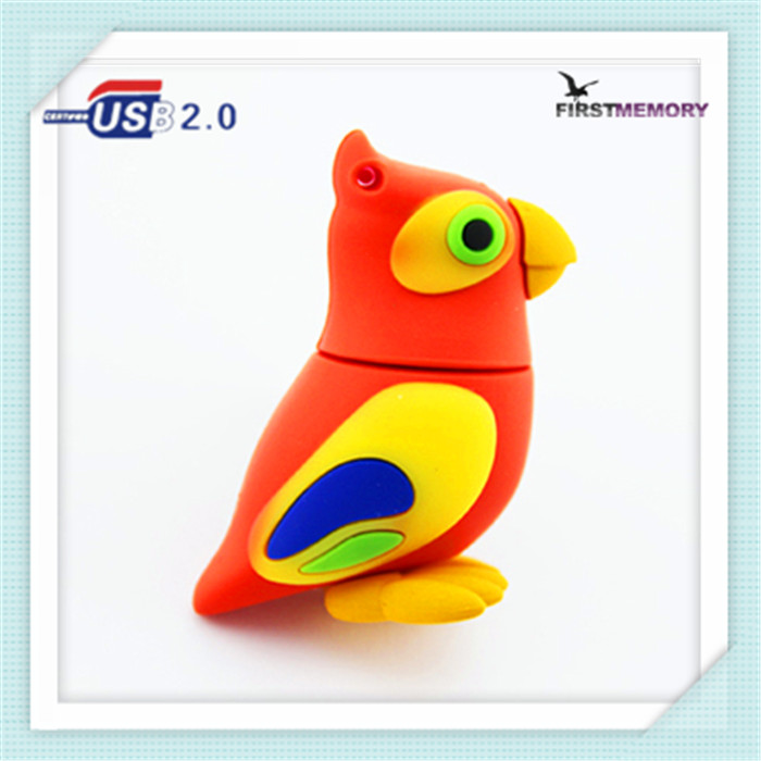 best small Parrot shape usb flash drive memory stick for photos