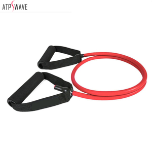 Latex exercise training resistance tube bands with foam handles