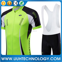 China custom cycling jersey 2016 men's short sleeve cycling wear jersey and bib shorts set no minimum