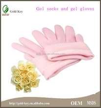Pink Cotton gel gloves for beauty girls, hand skin care gloves