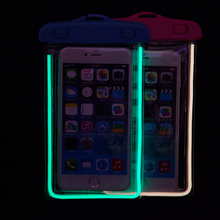 Universal Luminous Waterproof Case with Neck Strap for Smart Phone