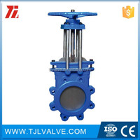Wafer type fabri-valve 023948 stainless steel manual 8 knife\/gate valve 125 psi ce cer gate valve