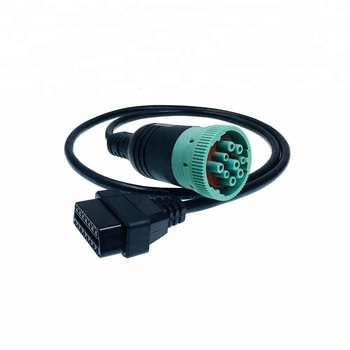 Green connector j1939 type 2 j1939 9 pin deutsch to obd2 cable