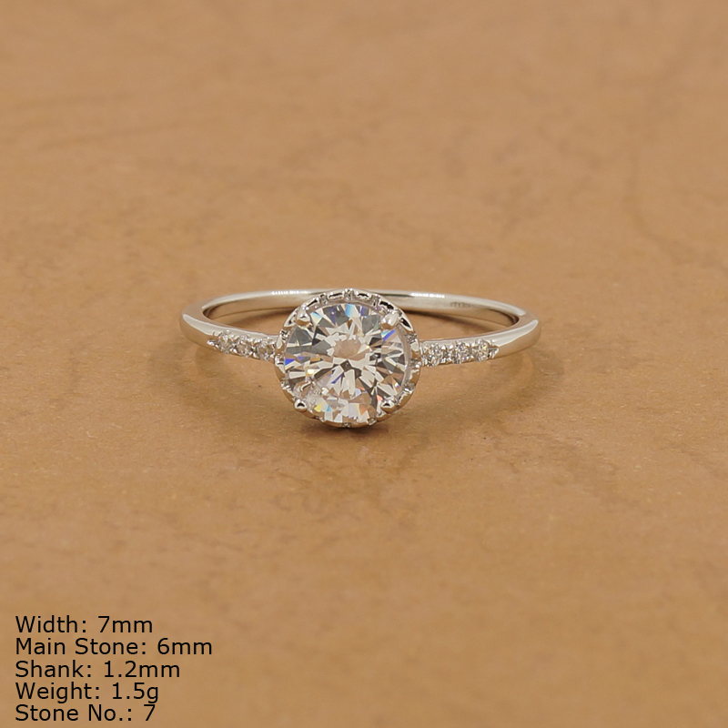 RZ7-006 high quality jewelry clear AAA CZ Stones ring for wedding