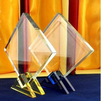 new design golden base crystal trophy