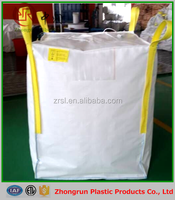 100% New virgin PP woven big bag , jumbo bag FIBC with filling spout and discharging spout