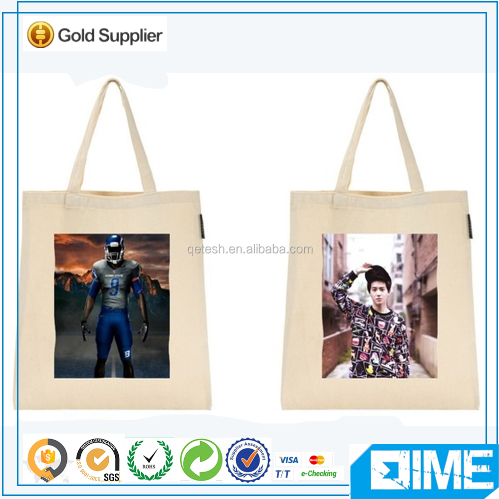 Korean shopping mall attraction printed foldable canvas shopper tote bag