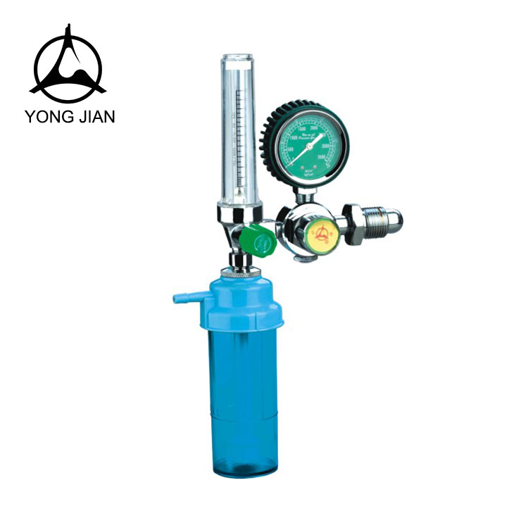 Hot sale stainless steel medical oxygen regulator with flowmeter