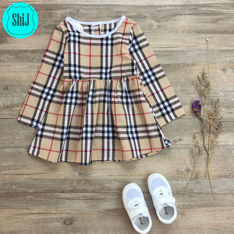 ShiJ Children Clothing Scotland Long Sleeve Kids Dress