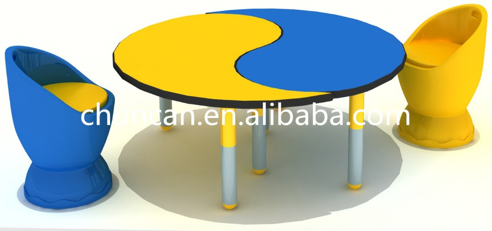 Children table compact grade laminate waterproof colorful table for kids