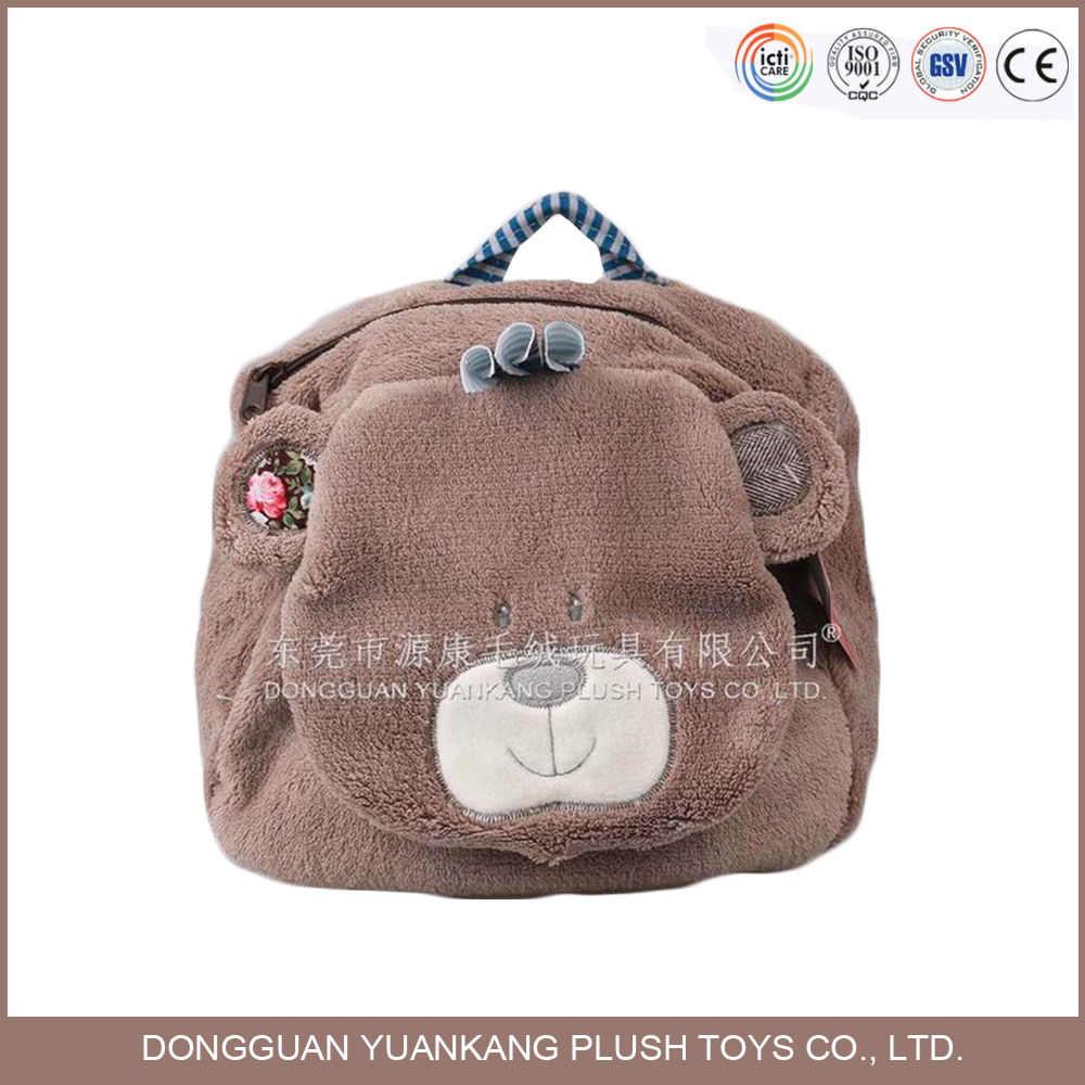 animal shaped cute plush soft backpack for your children