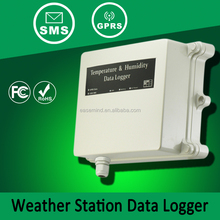 Weather station data logger pictures of measuring instruments