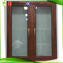 guangzhou fatcory aluminum profile hopo hardware natural wood veneer window