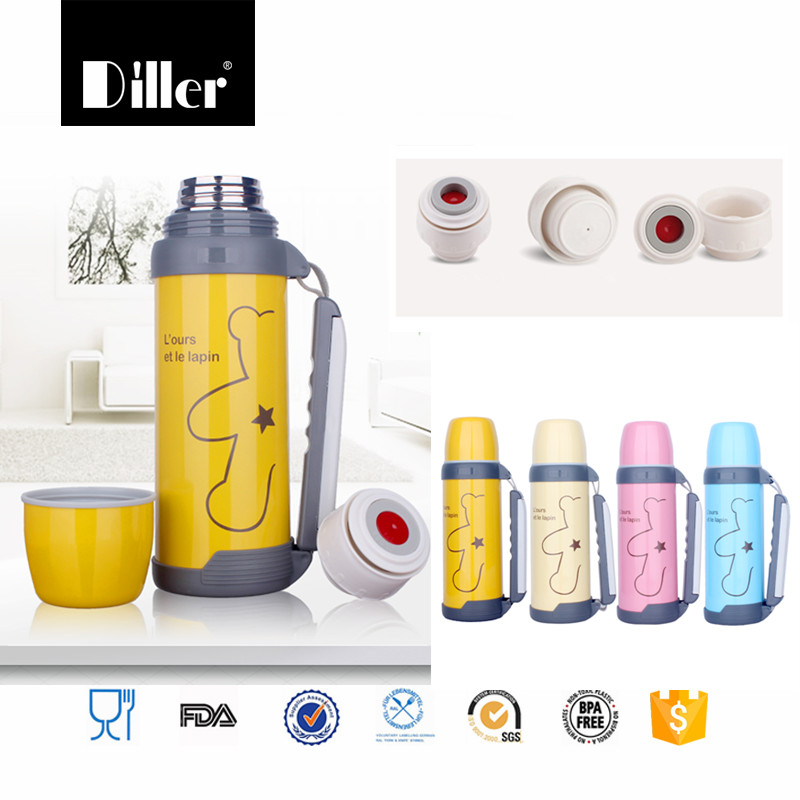 18/8 stainless steel vacuum flask & thermoses keeps drinks hot and cold for 24 hour