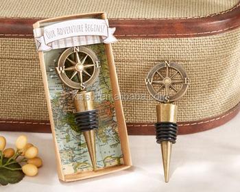 Unique Wedding Door Gifts : Unique Travel and Adventure Theme wedding door gift of Compass Bottle ...