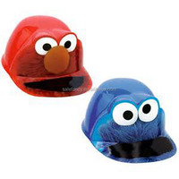 Hot selling kids birthday party sesame street plastic hat QHAT-6014