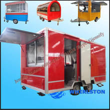 Food catering trailer/mobile kitchen truck for sale/food service trailer