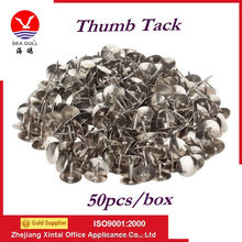 Silver color nickel plated round head metal map pins /thumb tacks
