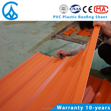 Portuguese anti-corrosive composite parking pvc sunroof plastic roof tile
