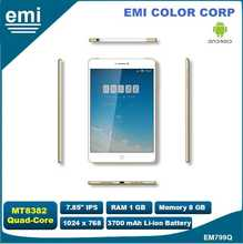 7.85 inch IPS tablet pc with Quad Core 1.2GHz , Bluetooth , 3G , GPS , FM