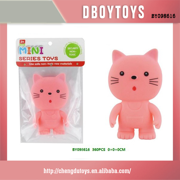 so cute baby cat vinyl pet toy