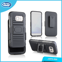 New Item Armor Holster Combo Case Rugged Plastic Phone Case for Samsung S7 with Ring Kickstand