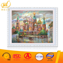 Oil Painting Cross Stitch DIY Craft Home Decor Gifts City Picture ZL142