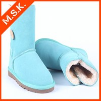 fashion new design women low knee boot warm winter snow boot for ladies