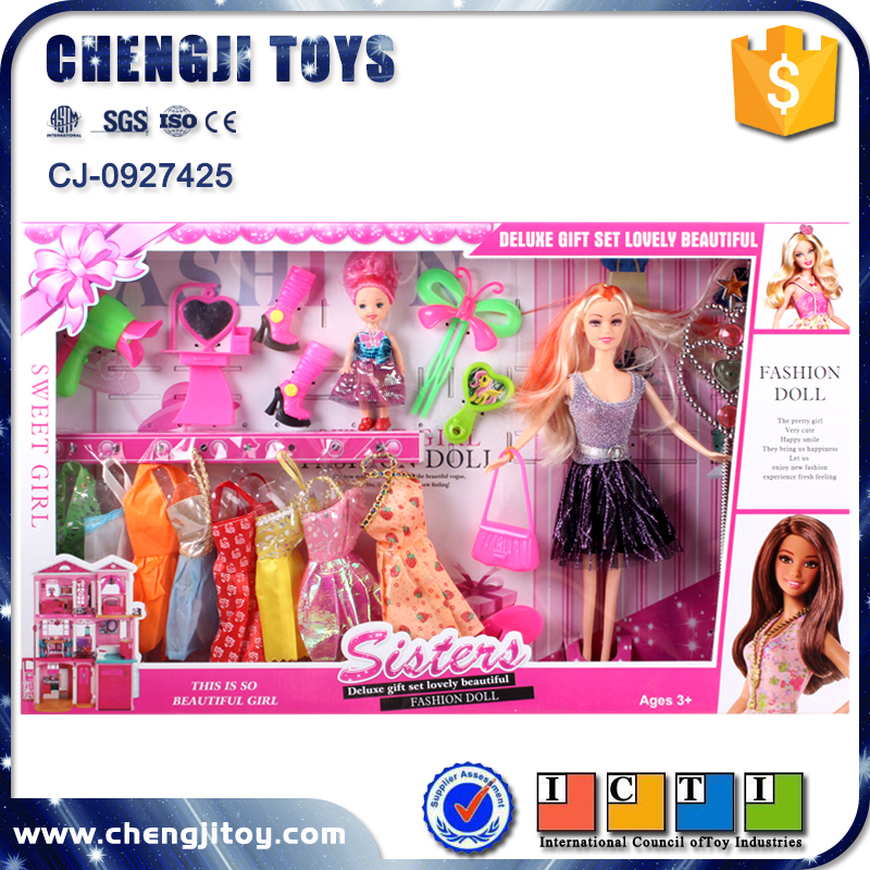 Cheap plastic beauty princess doll dress up games for girls