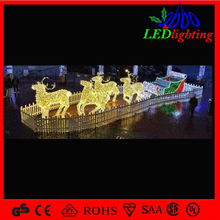 Christmas Led Lights Winding Iron Deer /Sleigh Design Decorations