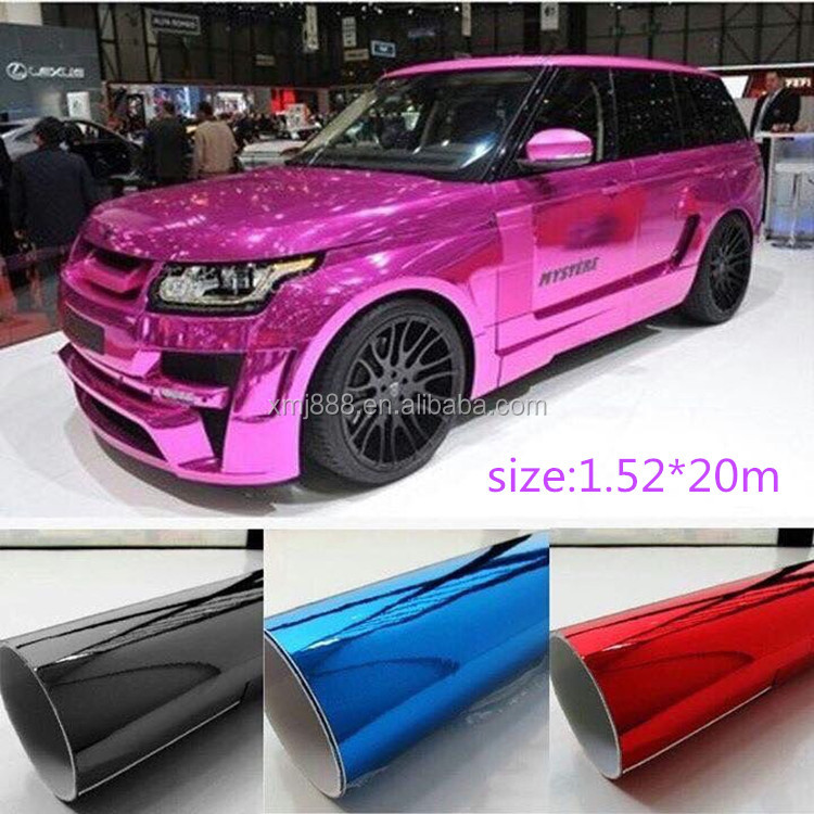 car body stickers Chrome Vinyl Car Wrap 1.52*20m