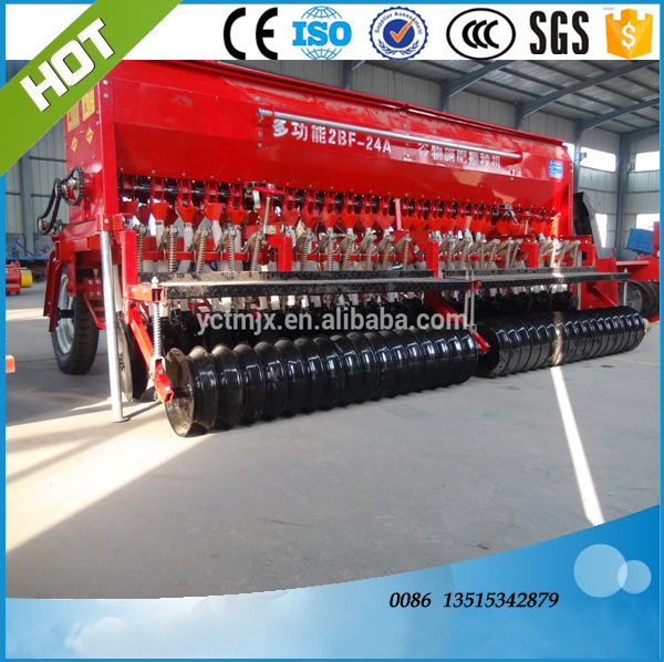 hot sells farm 24rows 2BFX-24 No-tillage wheat fertilizer seeder drill