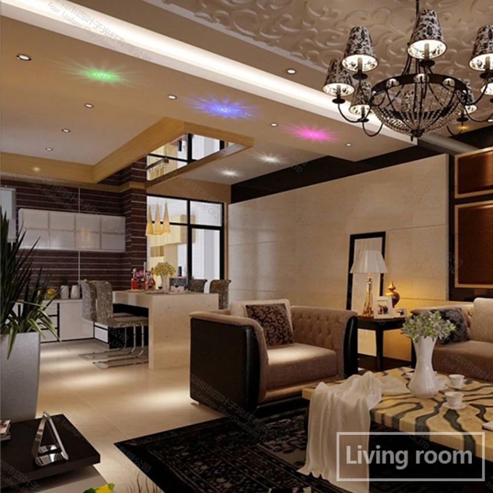 zw 06 6 pcs led fiber optique kit plafond toil embout. Black Bedroom Furniture Sets. Home Design Ideas