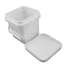 Food Grade Square Plastic Bucket used for icecream andfoods storage.