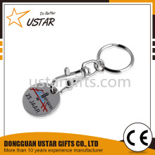 Free Design Promotional Keyrings, Custom trolley Coin, Numbered Tokens