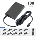 100W 90W Universal ac adapter with 5V2.1A USB plug laptop charger
