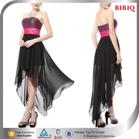 pink and black wedding dresses in chiffon strapless ruched dress front short long back women bulk items