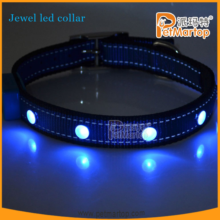 Adjustable S M L Night Nylon Flashing Light Safety LED Dog Pet Collar