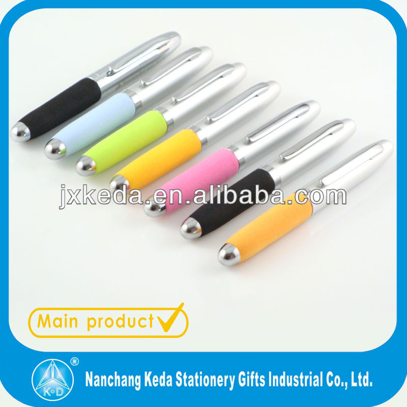 Cutted Body eva grip Business metal ball roller pen