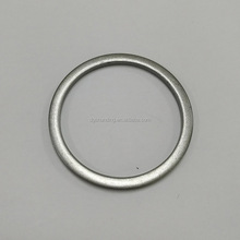 personalized zinc alloy silver circle plates for handbag