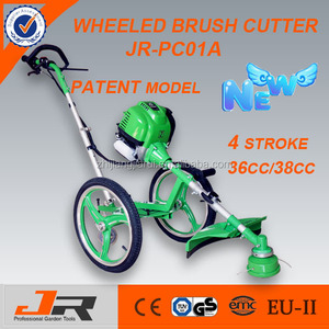 2015 new design 36cc wheeled brush cutter/wheeled grass trimmer