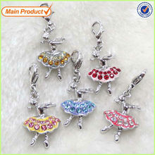 Fashion Alloy Adorable Ballet Dancing Goddess Girl Charm Dicount Jewelry #17107