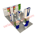Detian Display offer portable booth stand for trade show, used aluminum trade show booth display with shelfing