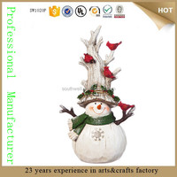 outdoor resin large snowman decorations frosty the snowman statue for sale