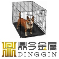 Metal Dog Kennel with ABS plastic Tray