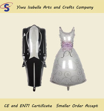 Inflatable foil mylar groom suit bride wedding dress balloon for Love Wedding Decoration