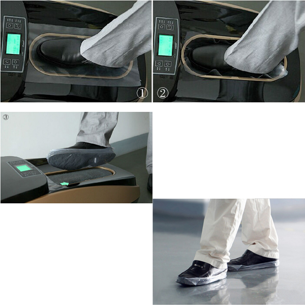 PVC PP materials Disposable shoe cover dispensers