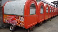 China mobile food kiosk catering trailer , food van , fast food kiosk