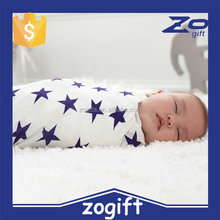 ZOGIFT Comfortable Organic Cotton Muslin Swaddle Baby Blanket for New Born Infant